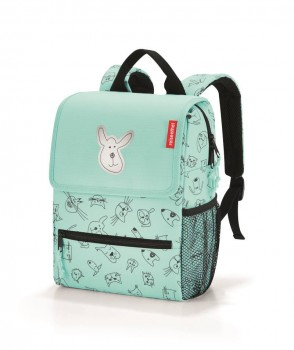 Backpack Kids cats & dogs mint